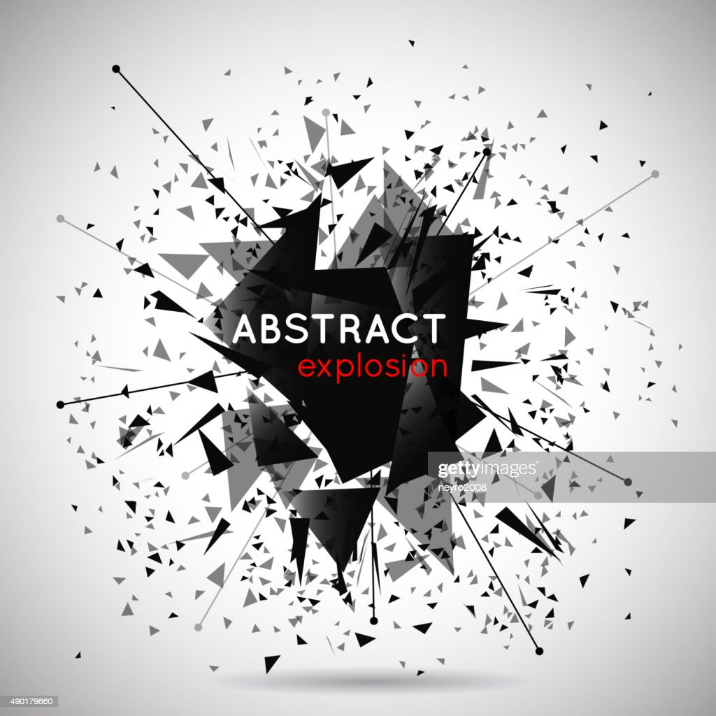 Vector abstract black explosion background