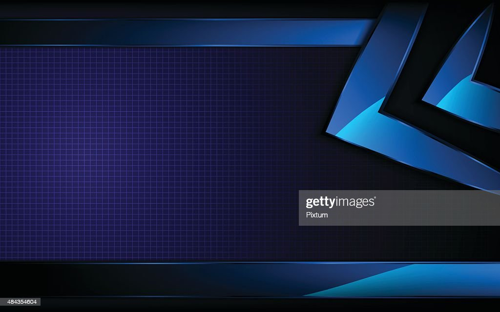 vector abstract blue rectangle shape hi tech concept background
