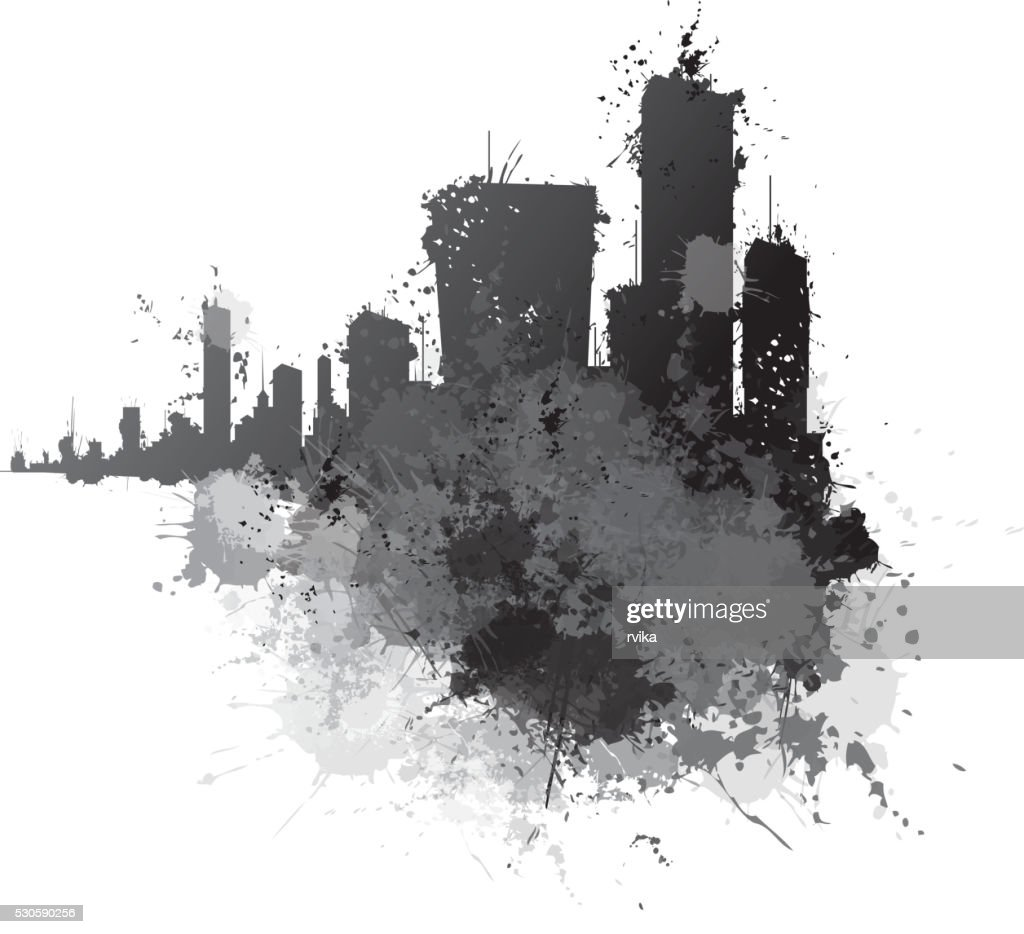 Vector abstract cityscape.