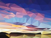 Vector Abstract Colorful Background with Triangles