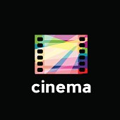 Vector abstract colorful roll, cinema concept