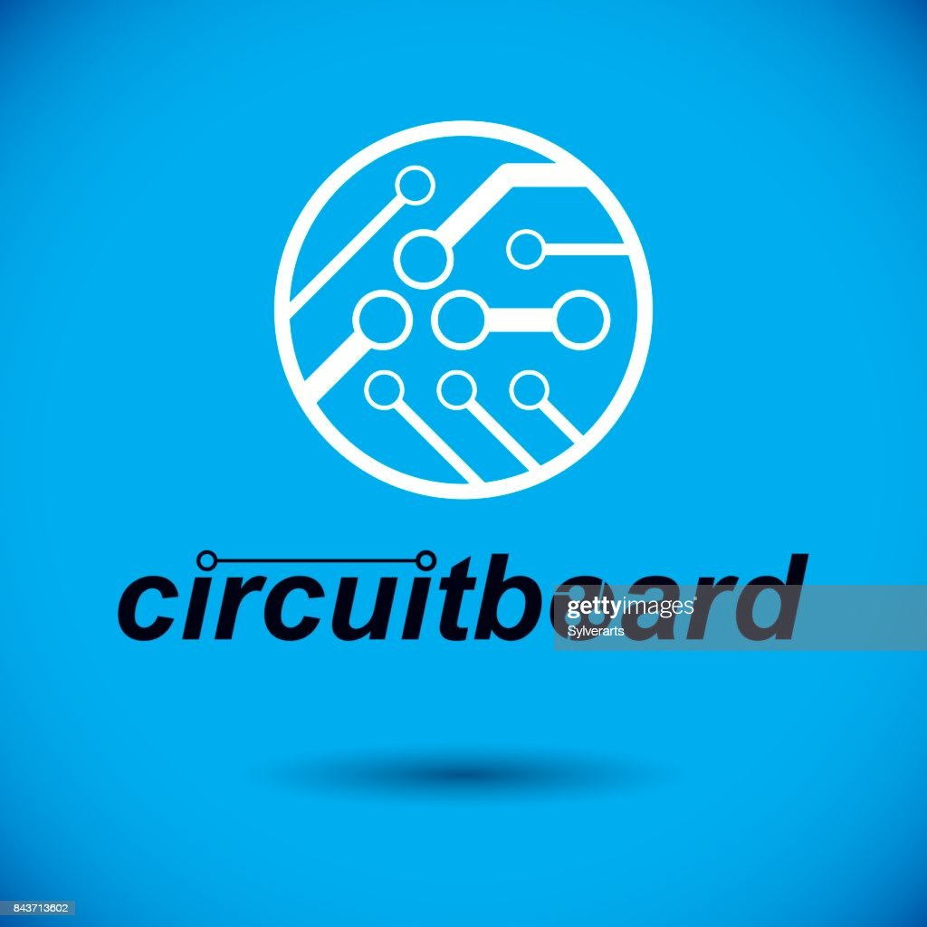 Vector Abstract Computer Circuit Board Round Technology Element With Modern Electronic Design Connections Electronics Theme Web