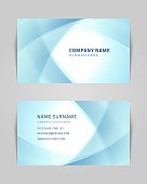 Vector abstract creative business card design template