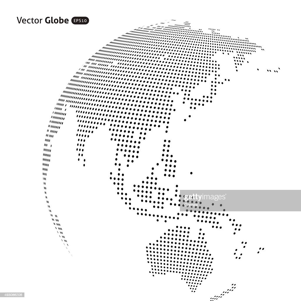 Vector abstract dotted globe