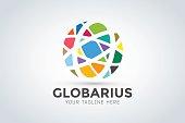 Vector abstract earth globe icon design