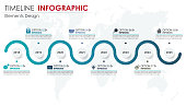 Vector abstract element timeline infographics. Design for template layout, brochure, workflow, information or presentation and other. Abstract 3D vector.