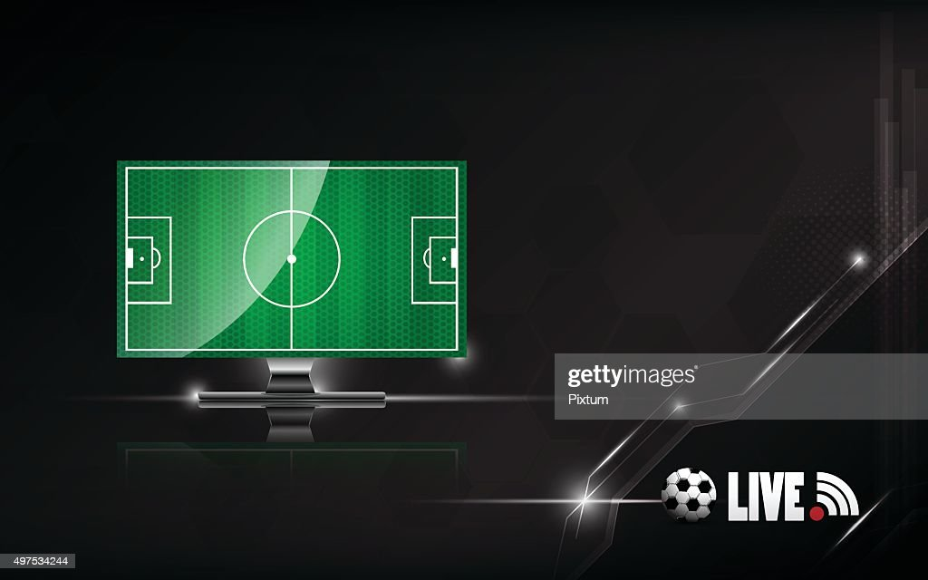 vector abstract football socer live on tv template design