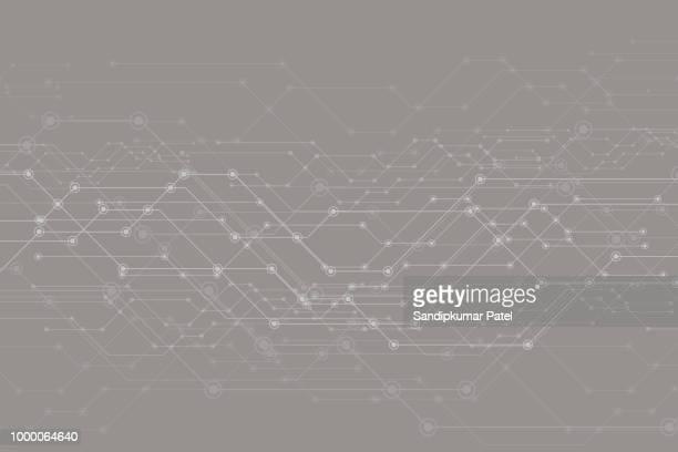 抽象的な未来、回路基板をベクトルし、メッシュ ライン - 回路基板点のイラスト素材/クリップアート素材/マンガ素材/アイコン素材