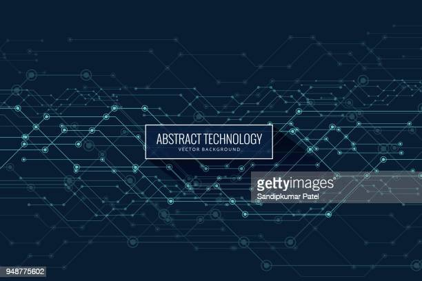 vector abstract futuristic, circuit board and mesh line - technology stock illustrations
