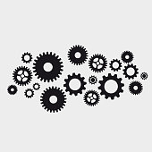 Vector abstract gears background