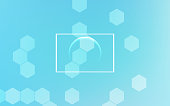 Vector Abstract geometric background. Soft blue color.