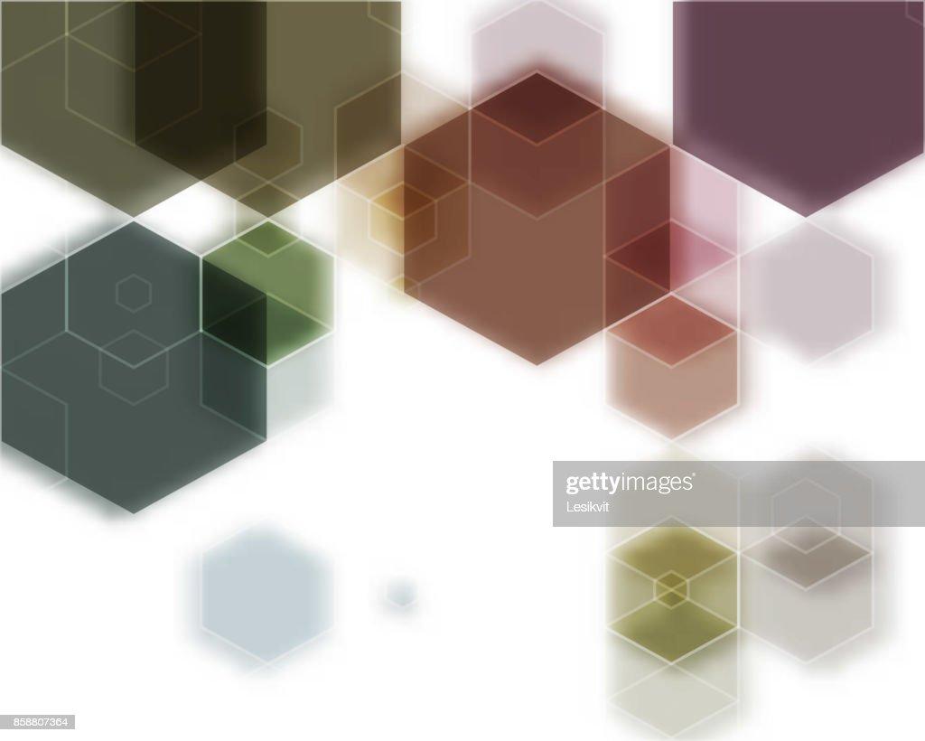 Vector Abstract geometric background. Template brochure design. Hexagon shape