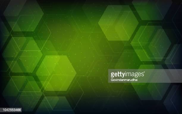 vector abstract geometric background. template brochure design - green background stock illustrations