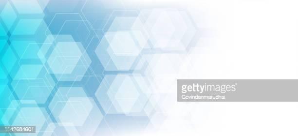 vector abstrakt geometrischen hintergrund. vorlage broschüre design - sechseck stock-grafiken, -clipart, -cartoons und -symbole