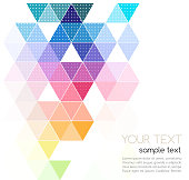 Vector abstract geometric banner with triangle