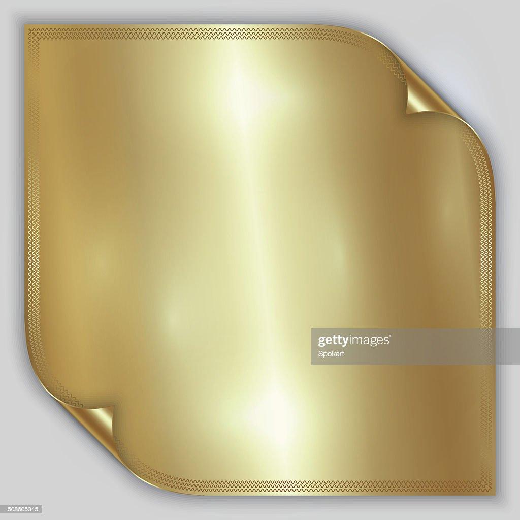 Vetor de ouro abstrato de metal de folha de alumínio laminado com Limite : Arte vetorial