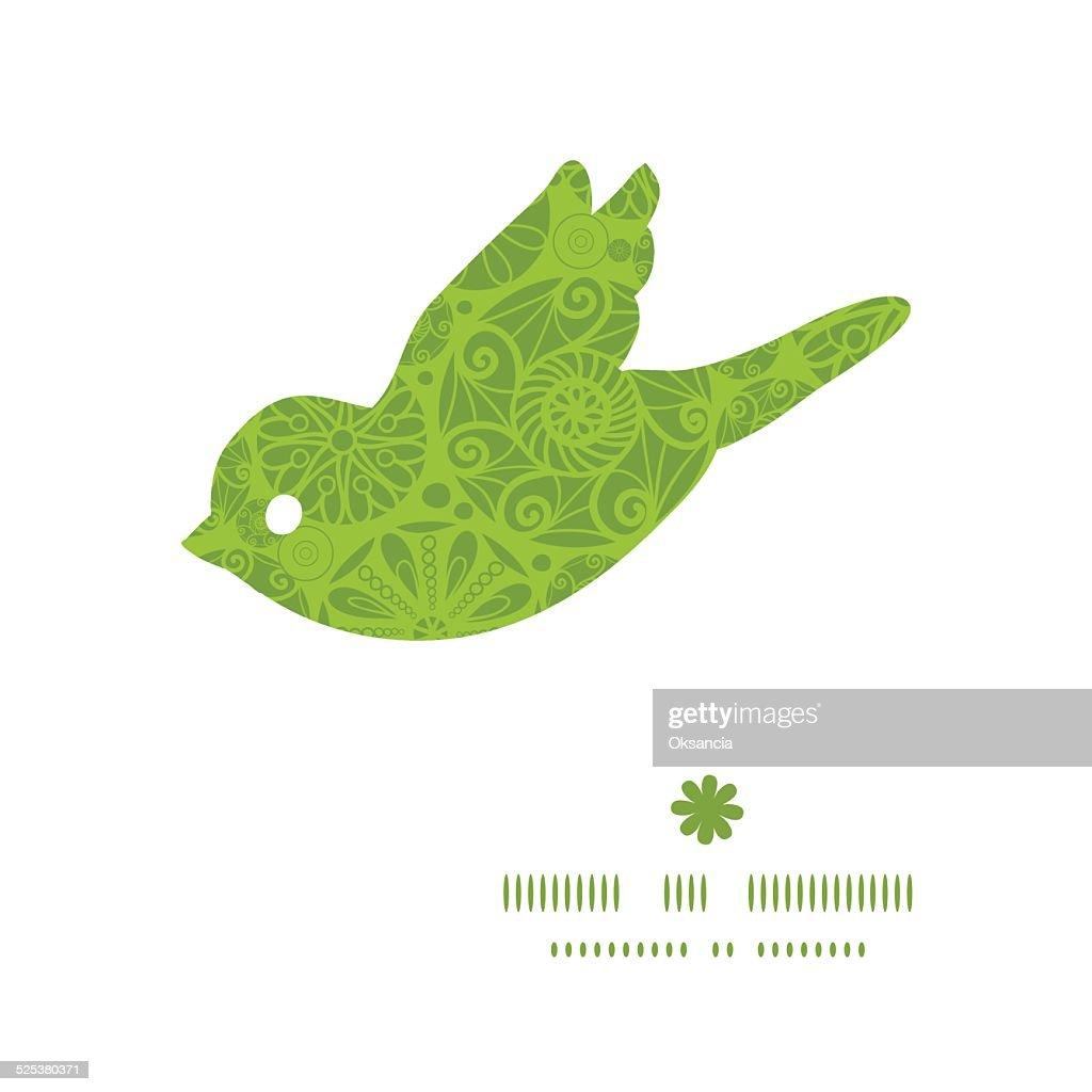 Vektor Abstrakte Grünen Und Weißen Kreisen Vogel Silhouette ...