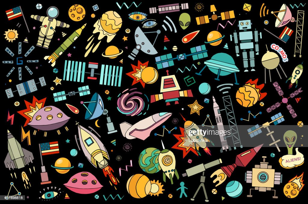 Vector abstract illustration of space.