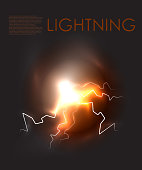 Vector abstract lighning background