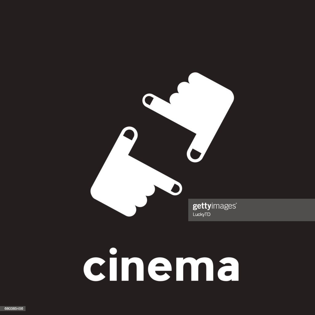 Vector abstract linear cinema and filmmaker