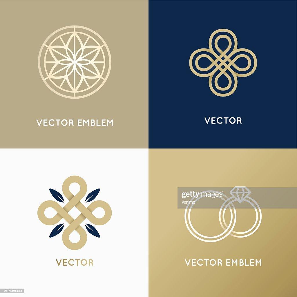 Vector abstract logo design templates
