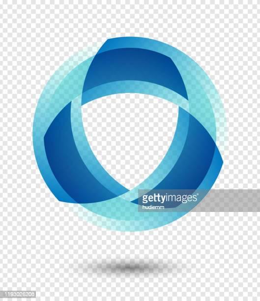 vector abstract logo icon isolated - shield stock illustrations