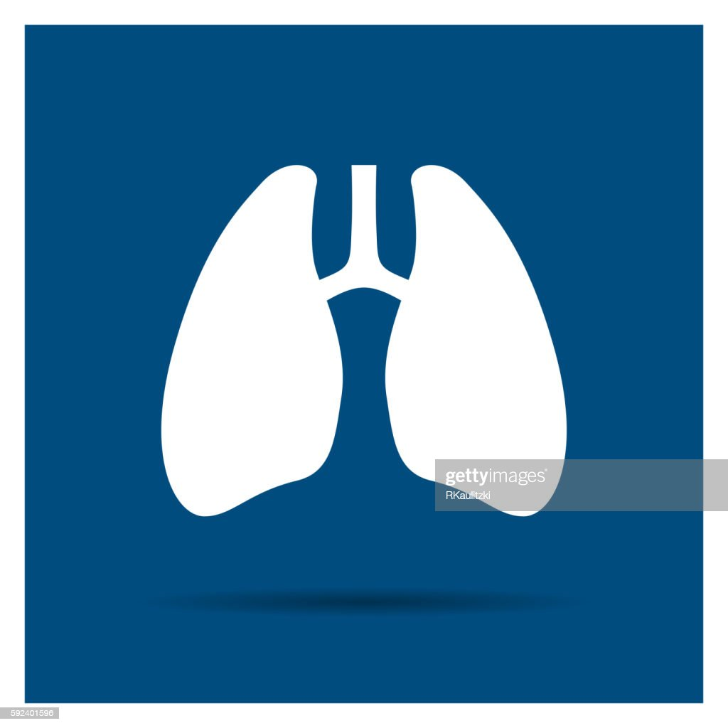 Vector Abstract Lungs Icon