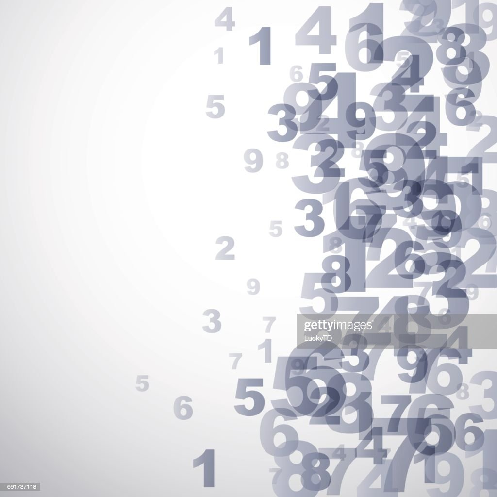 Vector Abstract numbers background