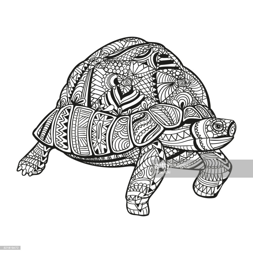 Vector Abstract Ornamental Turtle