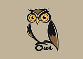 Vector abstract, owl