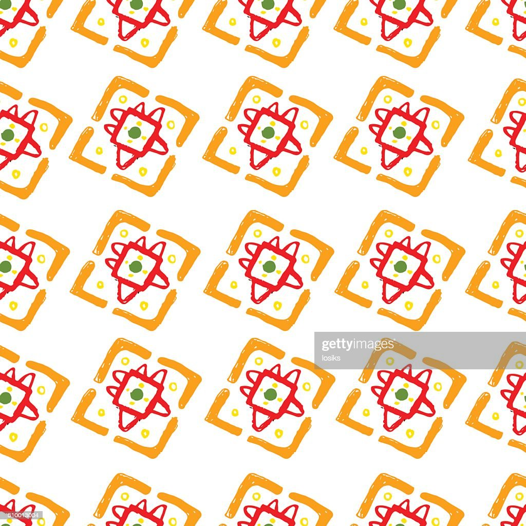 Vector abstract pattern for design, orange squares