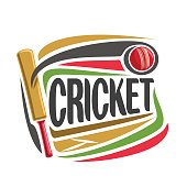Vector abstract poster for Cricket game