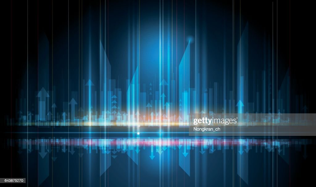 Vector Abstract, science, futuristic, energy technology and cityscape concept.