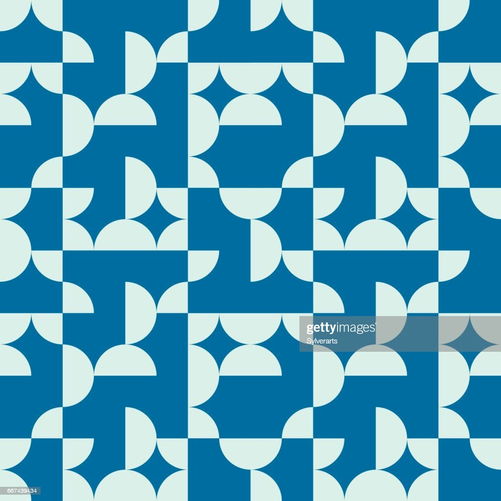 Vector abstract seamless composition best for use as wrapping paper, symmetric ornate background created with simple geometric shapes.