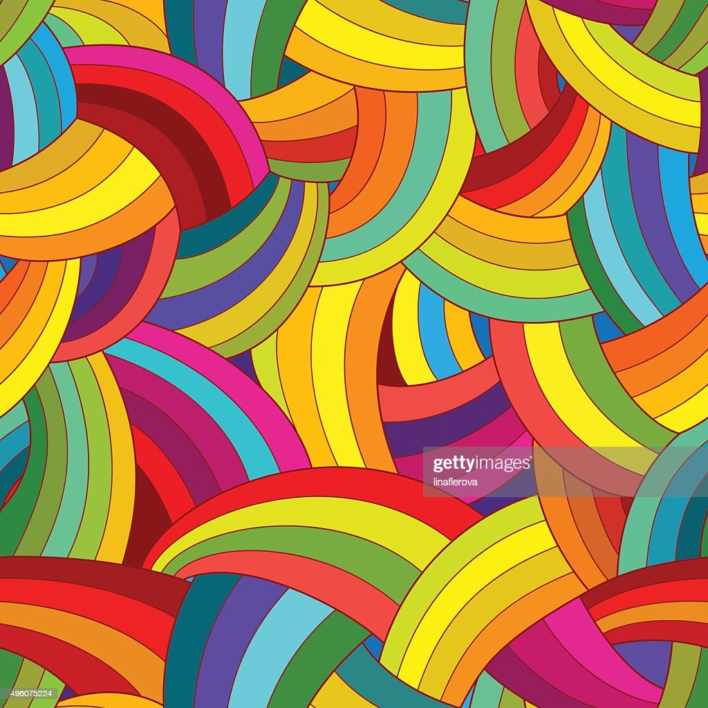 Vector abstract seamless pattern. Colorful background.
