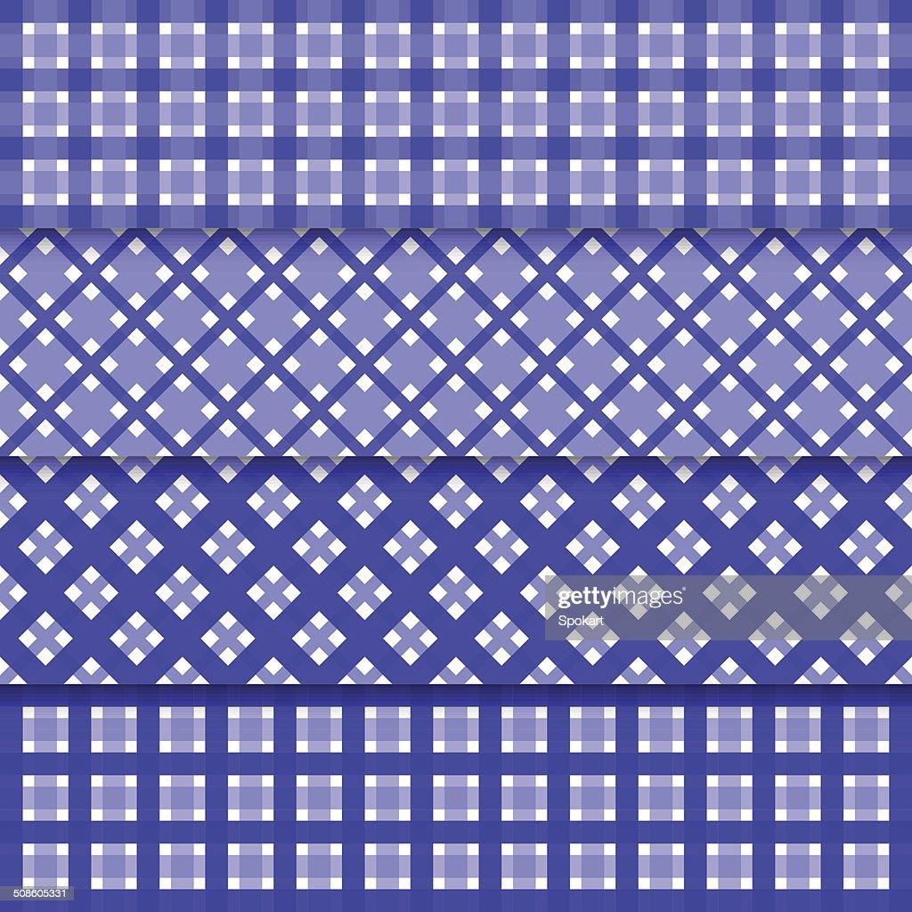 Fondo de Vector abstracto sin costuras con formas nd las sombras de azul : Arte vectorial