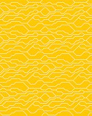 Vector abstract seamless yellow background with technical lines for presentations, business, web, computer and mobile apps, graphic design. Technology geometric motion. Digital network texture