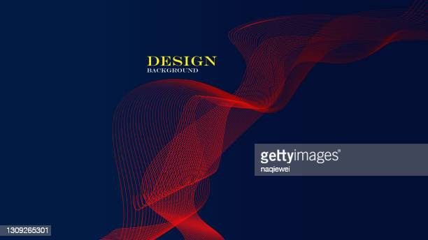 ダイナミック波線を持つベクトル抽象技術の背景 - バイアス点のイラスト素材/クリップアート素材/マンガ素材/アイコン素材
