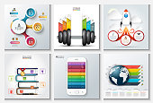 Vector abstract templates for infographics.