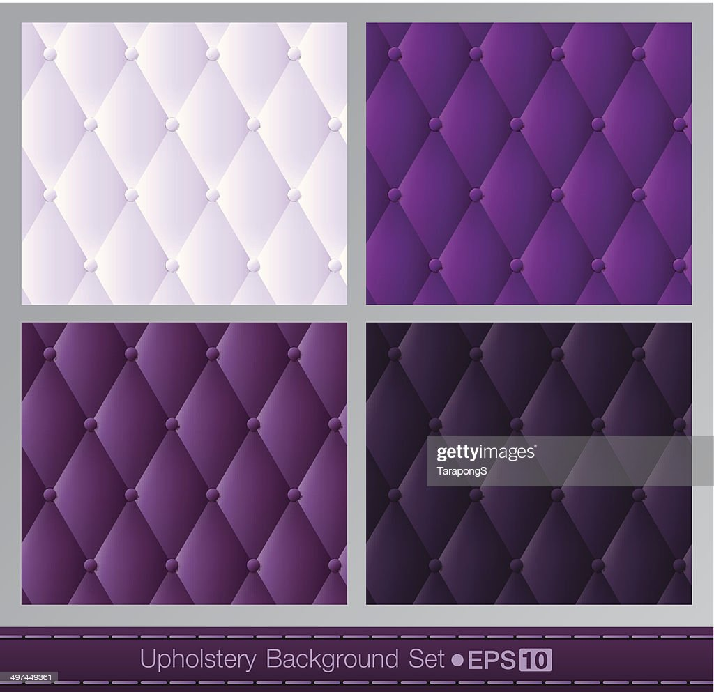 Vector abstract upholstery background. Purple color set.