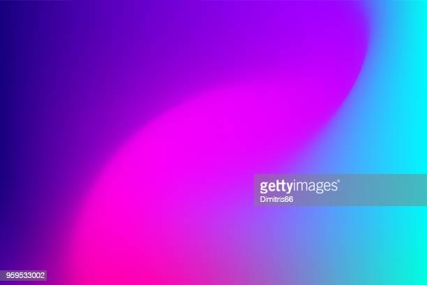 vector abstract vibrant mesh background: fuchsia to blue. - colour gradient stock illustrations