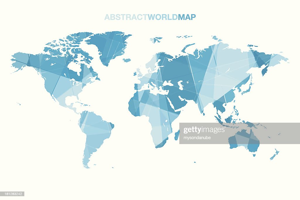 Vector abstract world map vector art getty images vector abstract world map vector art gumiabroncs Images