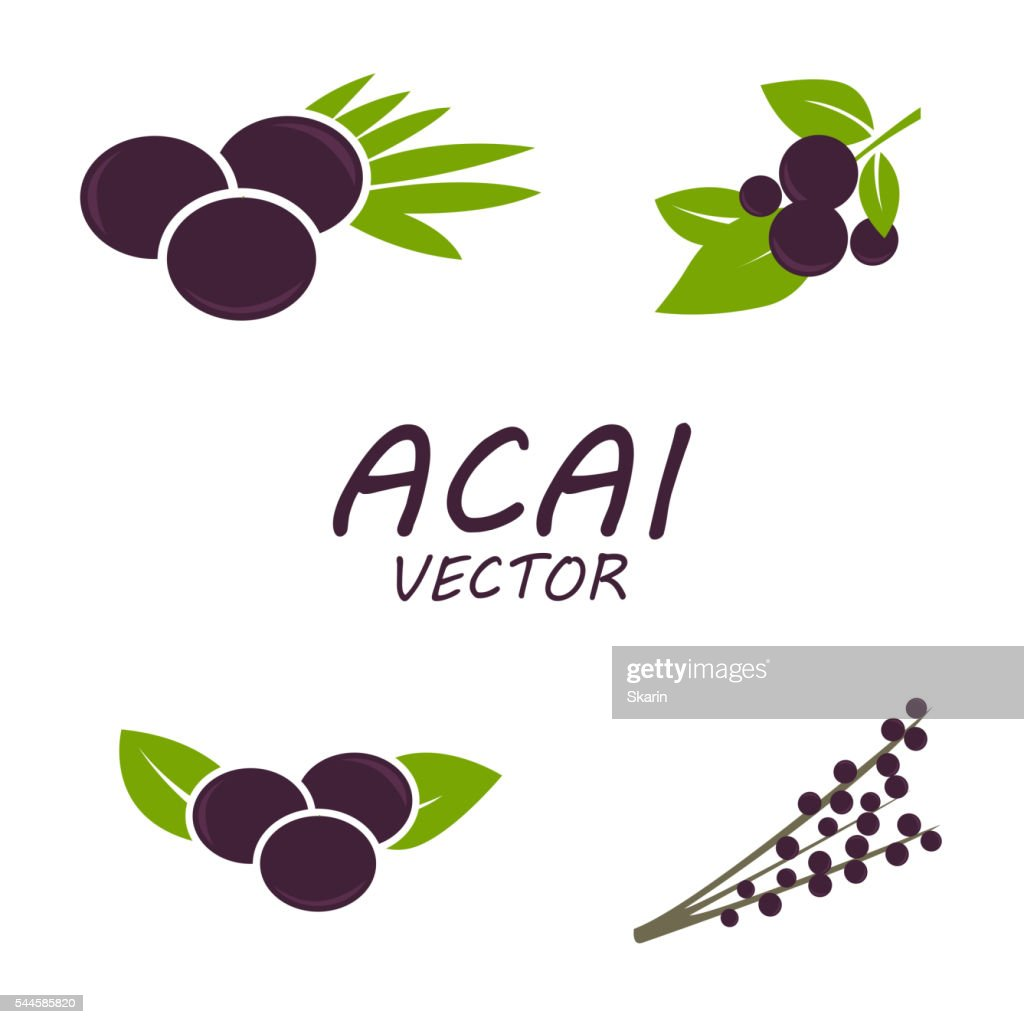 Vector Acai icons set