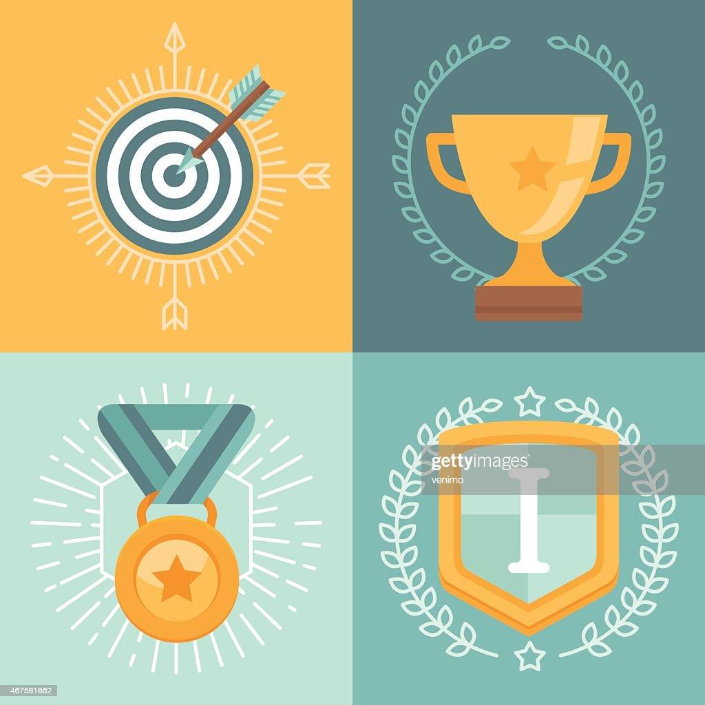 Vector achievement badges