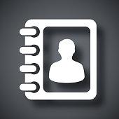 Vector address book icon