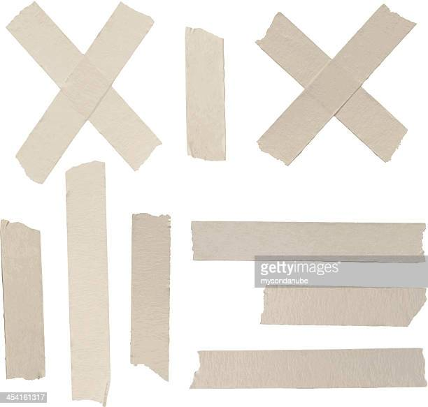 vector adhesive tapes collection - adhesive tape stock illustrations
