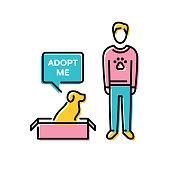 Vector Adopt A Dog Banner Template