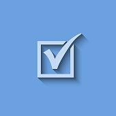 Vector agreement symbols on blue background