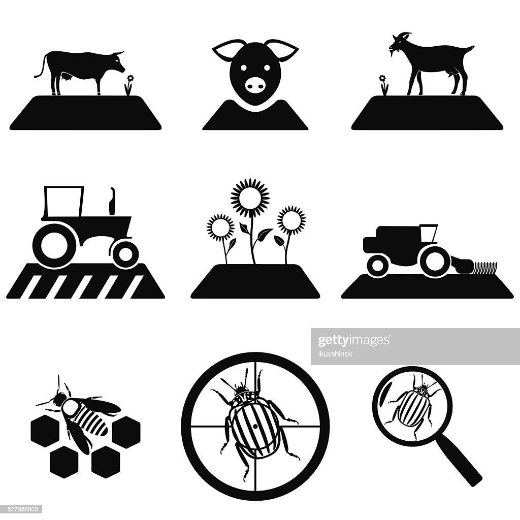Vector agricultural set