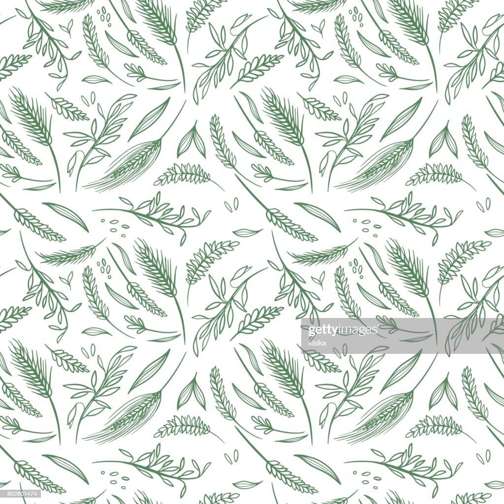 Vector Agriculture Seamless Pattern